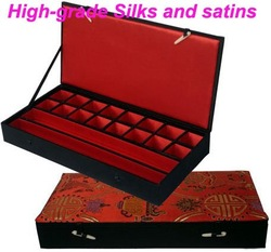 Chinese traditional silk and stains High quality lacquer jewelry box jewelry case! hot !(China (Mainland))