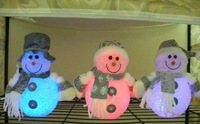 Promotion !! 1free shipping via EMS ,only US$115.0 7 colors led light Snow Man ,lovely gift ,Christmas gift,50 pcs
