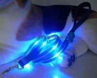Free shipping hot + wholesale  15pc/lot led light collar Safe Nylon Collar Waterproof Pet Dog LED Lights Cool c0005