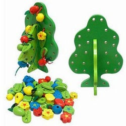 Free shipping/Promotions/Fruit tree/Wisdom Tree wooden toys new (pieces/lot)(China (Mainland))