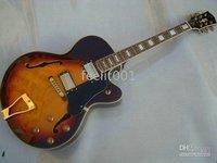 Brand Gb Jazz guitars F hollow body tremolo electric guitar vintage sunburst New free shipping