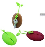 Creative fun new exotic coffee beans key bags (paperback / multicolor) 100pcs/lotFree shipping
