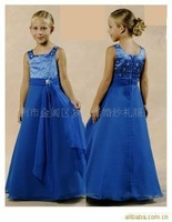smart design satin and tulle pretty bridal flower girl dresses  FL-1432
