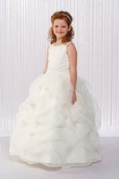 Free shipping Spaghetti Straps Hot Sale Flower Girl dress Custom-size/color wholesale/retail Sky743  FL-1451
