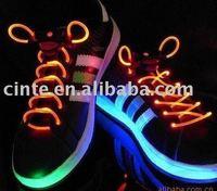 free shipping led lighting shoelace Laser Shoelaces light-up shoelace, glowing shoelace