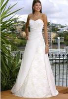 free shipping  2010 New style women's Beautiful Sexy Bride Gown Strapless Wedding Dress Dresses with Ruffles Dresses dress