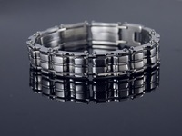 Free shipping&wholesale Christmas gift b257 Heavy MEN'S Cool Stainless Steel Link Bracelet