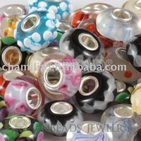 Mix 50 Pcs 7x14 High Quality European Glass Beads Fit Different Jewelry