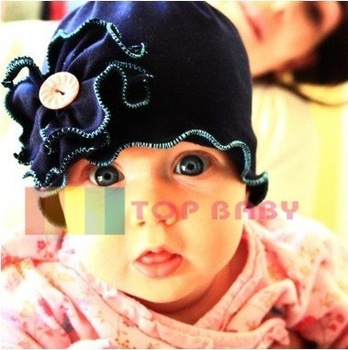 Top Baby hats headband barrette headgear kids berets chapeau dicer beanie hair clips --CL546