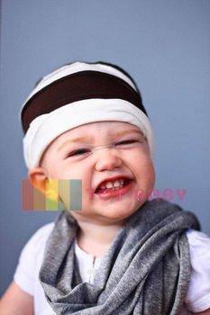 Top Baby hats headband barrette headgear kids berets chapeau dicer beanie hair clips --CL548