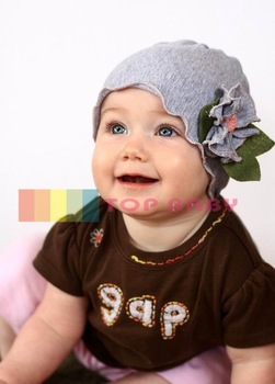 Top Baby hats headband barrette headgear kids berets chapeau dicer beanie hair clips --CL558
