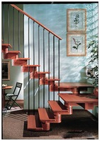 Wood Steel Stair