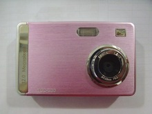 "12.0 Million 2.4""LTPS Digital Camera+2GB SD Card Reader / Pink  & Free Shipping(China (Mainland))"