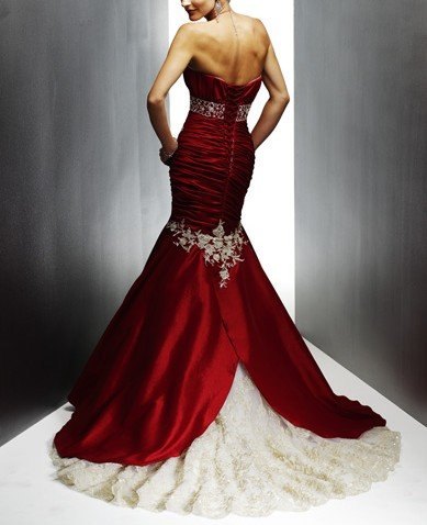 SA067 Free shipping 2010 Mermaid sleeveless elegant satin lace wedding dresses(China (Mainland))