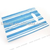 400x Blue And White Boutique & Gift Plastic Carrier Bags With Stripe 25*20cm 120174