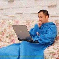 Free shipping sleeve blanket coat blanket fleece blanket