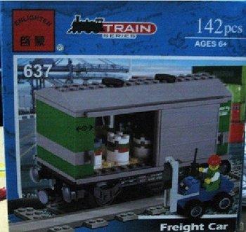 637 Freight Car  building toys LG /train models