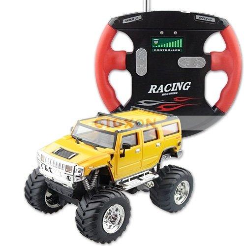 RTR 1:52 Mini RC Car Radio Remote Control Jeep Truck yellow color(Hong Kong)