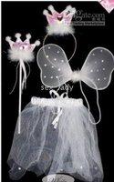 PRINCESS Wings Magic Wand Headband Set Angel Mascot Costume 2 color HALLOWEEN BUTTERFLY FAIRY Lovely