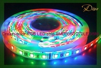 IP65 Epoxy-waterproof Intelligent Multi-color RGB LED strip SMD5050 5M/Reel 270LEDs+1PC controller