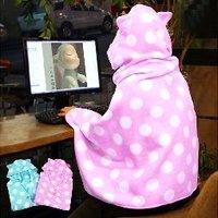 Free shipping sleepwalking baby shawl coat/wrap/fanum blanket baby blanket fleece blanket