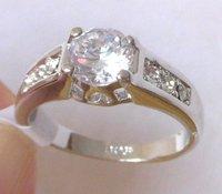 Ring. Wedding ring. Free shipping.  Provide tracking.  Simulation Diamond 18K GP White Gold Wedding ring.