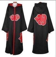 free shipping Cosplay Costume from Naruto,Akatsuki Itachi Cloak #size S M L XL XXL