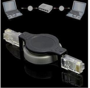 Free shipping 10pcs a lot Retractable RJ45 Ethernet LAN Internet Network Cable
