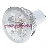 GU10 4-LED 360-Lumen 3500K Warm White Light Bulb (220V AC)