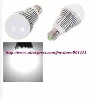 Free shipping! 5pcs/ lot, E27 3W 260-Lumen 3500K Warm White LED Bulb - Silver + White (220V)