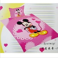 "Mickey Mouse Pink Girls Cartoon Kids 59""x78"" four-piece Bedding Set Gift Wholesale Free Shipping"