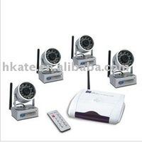 Free shipping 4 WIRELESS HIDDEN CCTV SECURITY IR CAMERAS RECEIVER KIT AW812G4