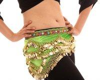 12Pcs/Lots Wholesale Free Shipping Belly Dance Faux Gem Wave Hip Scarf Belt Wrap Skirt  11 Colors