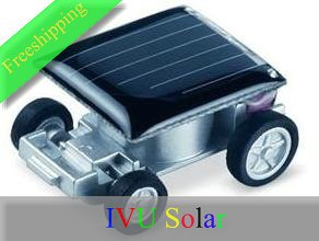 Freeshipping 20pcs The World&#39;s Smallest Solar Power Toy Car Christmas gift IVU(China (Mainland))