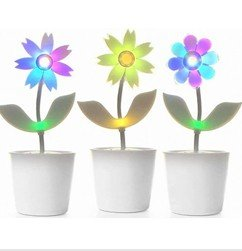 FREE SHIPPING!! Electronic Dance Flower Voice-activated Music Flower, best chrismas gift