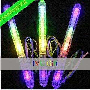Freeshipping 20pcs LED Flashing light up wand novelty toy,glow sticks Halloween party accessory Christmas IVU