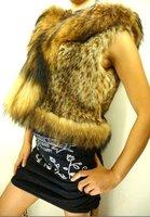 Wholesale-free shipping - 2012 lady fashion fur  coat,rarity 100%fur women's dress with hat