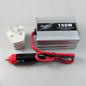 Wholesale 150W USB Car Power Inverter Adapter DC 12V to AC 220V [CP130]