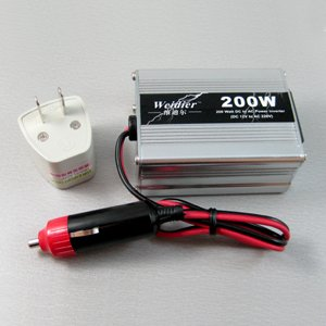 Free Shipping 200W USB Car Inverter Power AC Adapter Converter New Wholesale [CP131]