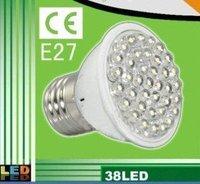 Special  38 LED 1.5-5W E27 White Spot Light Bulb 110-240V
