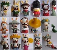 Loose Random 15pc Rayman Raving Rabbids Rabbit Figures,free shipping