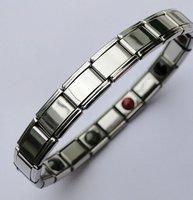 stainless steel bio germanium health bracelets anion bracelets balance bangle 50pcs/lot