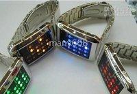 10pcs 16 LEDS watche / 16LEDS lights display movement / stunning electronic LED WATCH!