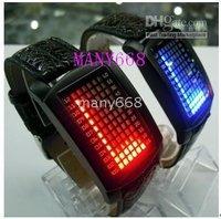 Free shipping+LED Watch /G1060 LED lights display movement / stunning electronic LED Watch 10pcs
