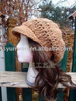 Hand crochet flower Adult cap - factory direct, free shipping
