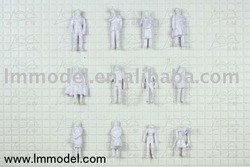 Model Unpainted Figures 1:87 HO scale model people for scale models for train layout(China (Mainland))