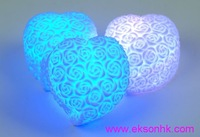 Wholesale -  Christmas gifts Romantic Heart Shaped LED Night Light 7 Color Changing, Best Festival Gift!