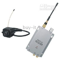Free shipping+ 1.2GHZ Wireless Mini Color Camera with Audio Receiver SY 203B !