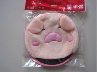 best gift-USB heater-freight discount- fashion style-USB heating gloves -pink pig