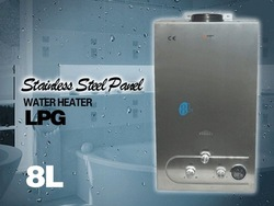 US STOCK @ 8L GAS TANKLESS INSTANT HOT WATER HEATER LPG STAINLESS , GOOD QUALITY, REASONABLE PRICE(China (Mainland))